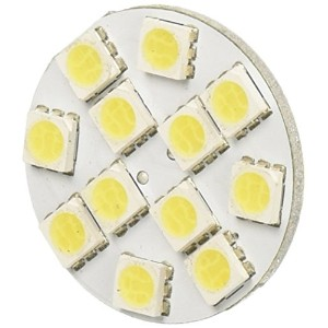 Green LongLife 5050102 LED Replacement Light Bulb G4 base with back pins 150 Lumens 12v or 24v Cool...
