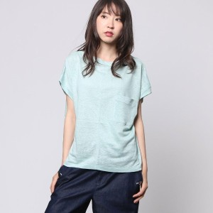 【SALE 50%OFF】コムサイズム COMME CA ISM リネンTシャツ (ミント)