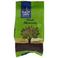 Crazy Jack Organic Almonds 100 g (Pack of 5)