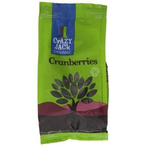 Crazy Jack Organic Cranberries 100 g (Pack of 5)