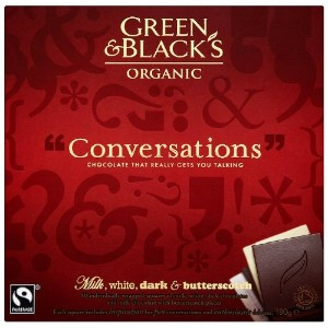 Green and Black's Organic Conversations Milk, White, Dark and Butterscotch 180 g (Pack of 2)