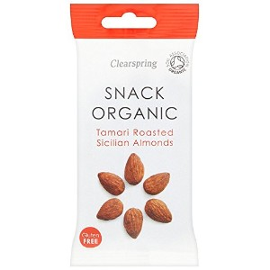 Clearspring - Organic Snack - Tamari Roasted Sicilian Almonds - 30g (Case of 15)