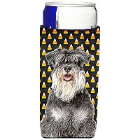Candy Corn Halloween Schnauzer Ultra Beverage Insulators forスリム缶kj1213muk