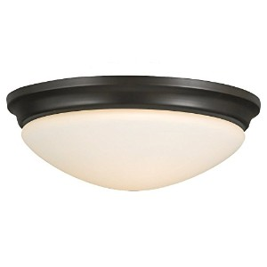 Murray Feiss FM272ORB Barrington 14-Inch Flushmount Oil Rubbed Bronze with Opal Etched Glass [並行輸入品]