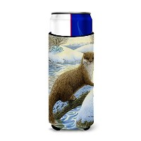 Caroline 's Treasures Otter on the Bank Michelob Ultra Koozies forスリム缶、マルチカラー