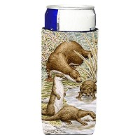 Caroline 's Treasures Otter Family Michelob Ultra Koozies forスリム缶、マルチカラー