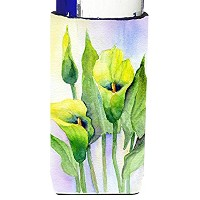 Caroline 's Treasures Lilies by Maureen Benfield Michelob Ultra Koozies forスリム缶、マルチカラー