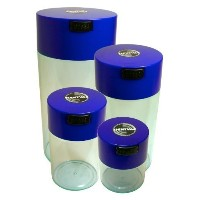 Tightvac Nested Set of 4 Vacuum Sealed Dry Goods Storage Containers, 4 Sizes: 24-Ounce, 12-Ounce, 6...