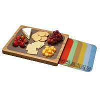Seville Classics Bamboo Cutting Board with Removable Cutting Mats [並行輸入品]