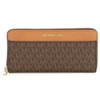 マイケルマイケルコース 長財布 32S7GM9E9B Michael Michael Kors Mercer Logo Continental Wallet (BROWN) ポケット...