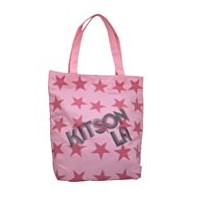 【kitson】キットソン スーパー スター トートバッグ SUPER STAR TOTE 3641 PINK/BLACK ピンク/ブラック [並行輸入品]