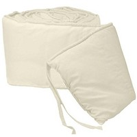 Tailored Baby Cradle Bumpers - Color Ecru - Size 15x33 by BabyDoll Bedding