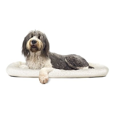 NAP Pet Bed Sherpa Faux Lambswool Bolster Pet Bed, Jumbo Fits 30 x 48 by Furhaven Pet