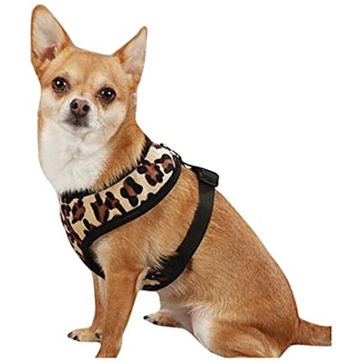 Pet Pals ZA518 20 13 ESC Plush Print Harness Lrg Leopard