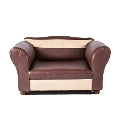 Mini Sofa Brown and Beige Pet Bed by Keet