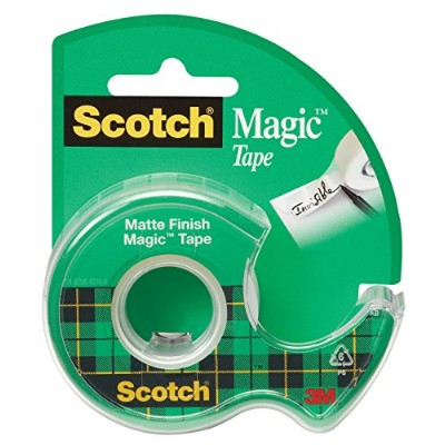 Scotch Magic Tape, 1/2 x 450 Inches, 12 Rolls (104) by Scotch