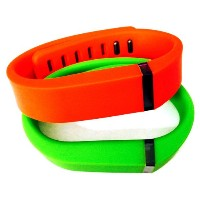 ! Small S 1pc Green 1pc Red (Tangerine) Replacement Bands + 1pc Free Small Grey Band With Clasp for...