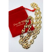 """DESIGN by TSS (デザイン・バイ・ティーエスエス) / """"GOOCHI LINK"""" NECKRACE (ネックレス) / gold (Gold Stainless Steel) ..."""