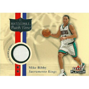 マイク ビビー Mike Bibby NBAカード 01/02 Fleer Platinum National Patch Time