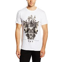 Bring Me The Horizon Men's Wolven Version 2 Short Sleeve T-shirt, White, X-large