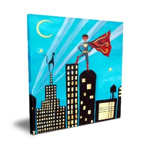 Cici Art Factory Superhero, 16x 16 by Cici Art Factory