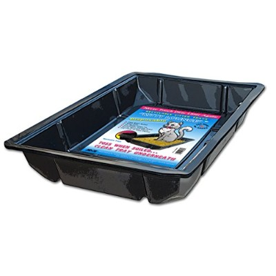 Kitty Lounge Disposable Litter Tray, Black, 100-Pack- Argee RG606/100 by Argee