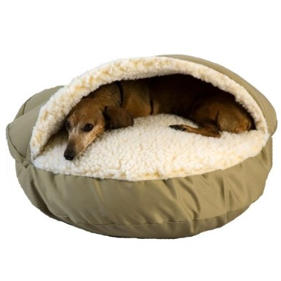 Snoozer Cozy Cave, Khaki, X-Large by Snoozer