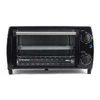 Westinghouse WTO1010BSA Select Series 4 Slice Countertop Toaster Oven, Black [並行輸入品]