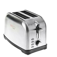 Cookmate by Viasonic 2 Slice Stainless Steel Toaster [並行輸入品]