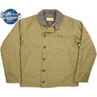 "BUZZ RICKSON'S/バズリクソンズ Jacket, Deck, Zip Type N-1 KHAKI""NAVY DEPARTMENT""N-1デッキジャケット 40's MODEL..."