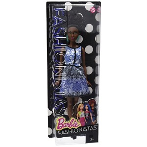 [バービー]Barbie Fashionistas Doll 25 Blue Brocade Petite DMF27 [並行輸入品]