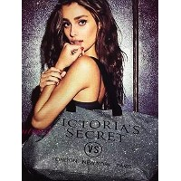 (ヴィクトリアシークレット トートバッグ) Victorias Secret Glitter Weekender Tote BAG Black Limited Edition 2015