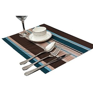 Ovee Lando High Quality Rectangle PVC Dining Room Placemats for Table Heat Insulation Stain...