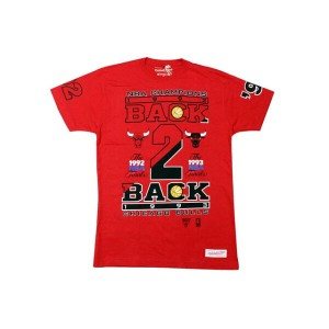 MITCHELL&NESS T-SHIRTS (CHAMPION COLLECTION/BACK 2 BACK/CHICAGO BULLS: RED)ミッチェル&ネス/Tシャツ/赤