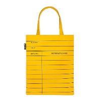 【Out of Print】 Library Card Tote Bag (Classic Yellow)