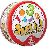 Spot It! Numbers & Shapes Card Game
