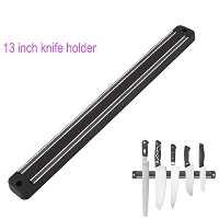 High Quality 13 inch Magnetic Knife Holder Wall Mount Black ABS Placstic Block Magnet Knife Holder...