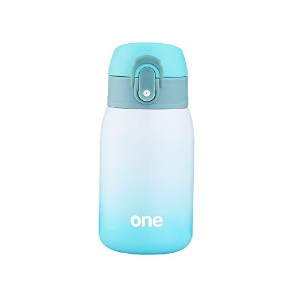 (Green-white) - Mini Water Bottle for Kids & Adult, Vacuum Insulated Bottle, Travel Coffee Cup, Stainless Steel Thumbler Ombre Bottle, Gradient - 270ml (Green-white)