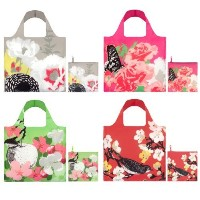 LOQI Prima Collection Pouch Reusable Bags, Multicolored, Set of 4 [並行輸入品]
