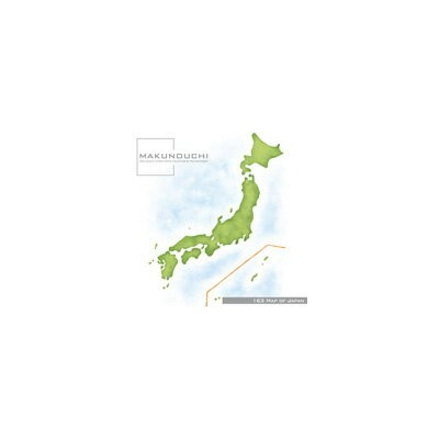 Makunouchi 163 Map of Japan【メール便可】