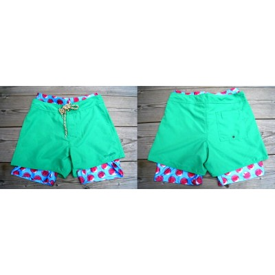 OVER THE TWELVE インナーパンツ付き SWIM WEAR [GREEN]