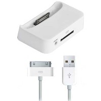 iPhone3G/3GS用ドックステーション/ホワイト 【Dock-charger-WH】