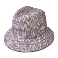 KANGOL(カンゴール) ハット HERRINGBONE CLIPPER, Brown