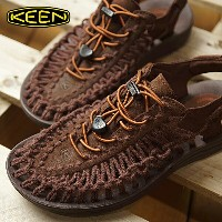 KEEN キーン サンダル レディース WMNS UNEEK LEATHER ユニーク レザー French Roast/T.Spice SC (1017880 FW17)【コンビニ受取対応商品】