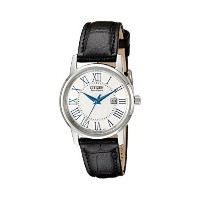 シチズン Citizen Womens ウィメンズ レディース 女性用 EW1568-04A Eco-Drive Black Leather Strap Casual Watch 腕時計 ...