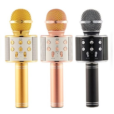 UUSIX New Mic Karaoke Microphone Wireless Microphone Mini Portable Wireless Bluetooth 4.1 Microphone...