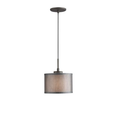 Woodbridge Lighting 13323MEB-S10802 1-Light Mini Pendant, 8-Inch by 84-Inch Maximum, Metallic...