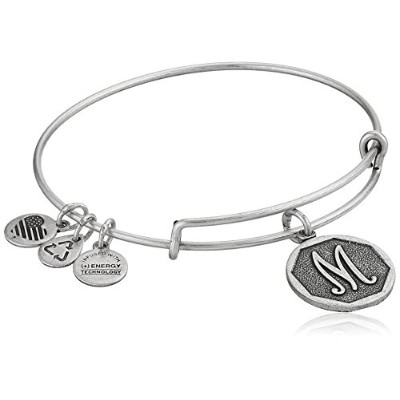 "Alex and Ani Initial Expandable Wire Bangle Bracelet, 2.5 "" X"