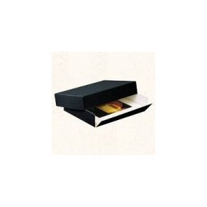Lineco Museum Quality Drop-Front Storage Boxes 11 in. x 14 in. x 1.5 in. black by Lineco [並行輸入品]