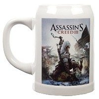 Surreal Assassin 's Creed III – カバーアートセラミックStein